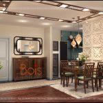 Đồ gỗ Grand Bois trong thiết kế nội thất phòng ăn chung cư