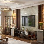 Đồ gỗ Grand Bois trong thiết kế nội thất nhà liền kề hiện đại