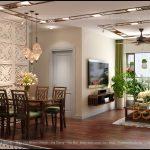 Đồ gỗ Grand Bois trong thiết kế nội thất chung cư hiện đại