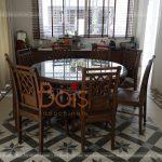 bàn ăn tròn 8 ghế cho biệt thự