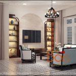 Sofa gỗ đẹp phòng khách biệt thự