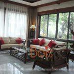 Sofa gỗ gụ hiện đại