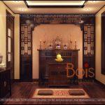 Thiết kế nội thất phòng thờ phong cách Đông Dương